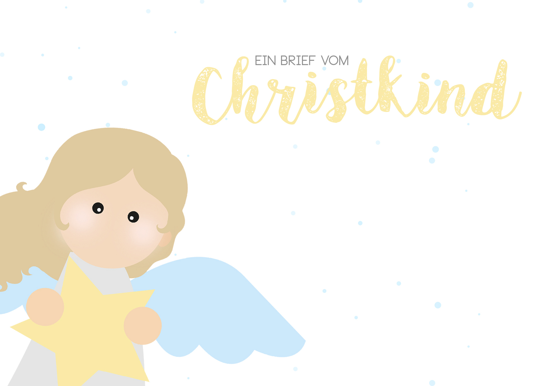 Brief An Das Christkind Vorlage Brief Ans 7